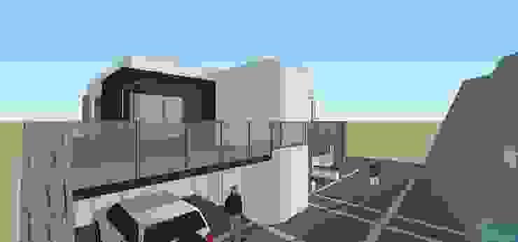 Fachada Principal MARATEA estudio Casas de estilo minimalista Concreto