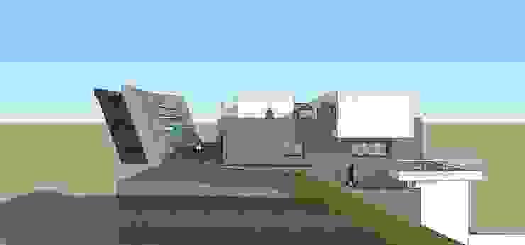 Fachada lateral MARATEA estudio Casas de estilo minimalista Concreto
