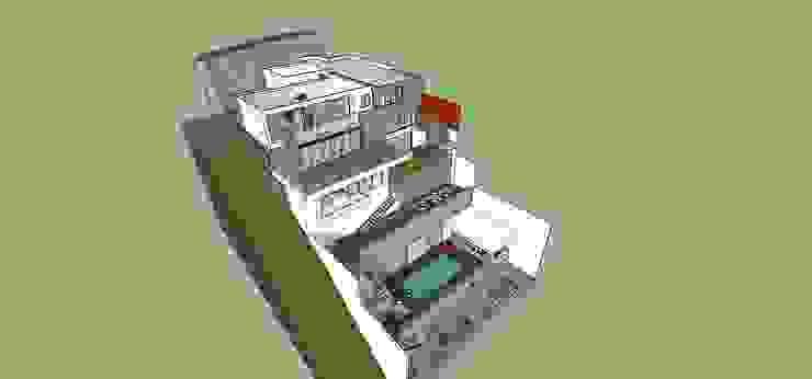 Vista general MARATEA estudio Casas de estilo minimalista Concreto