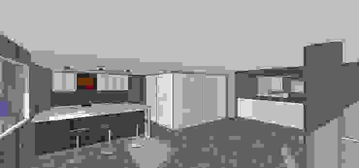 Sala de entretenimiento & bar MARATEA estudio Salas de entretenimiento de estilo minimalista Mármol Gris