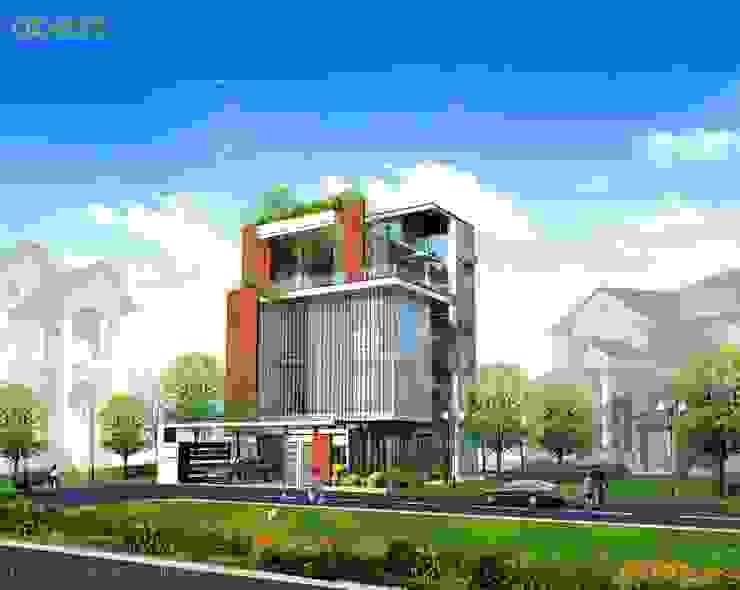 Thiết kế kiến trúc biệt thự bởi Công ty TNHH Thiết kế và Ứng dụng QBEST Hiện đại