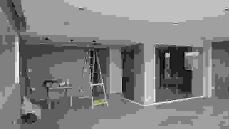 Sala de entretenimiento & Bar MARATEA estudio Salas de entretenimiento de estilo minimalista Concreto Gris