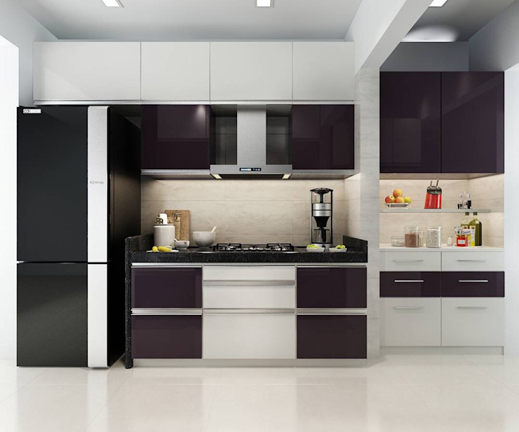 Kitchen Minimalist kitchen by The inside stories - by Minal Minimalist Plywood