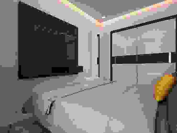 Camera da letto moderna di The inside stories - by Minal Moderno Compensato