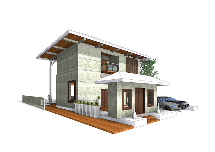 Obelisk Engineering & Contracting WLL. Minimalist houses