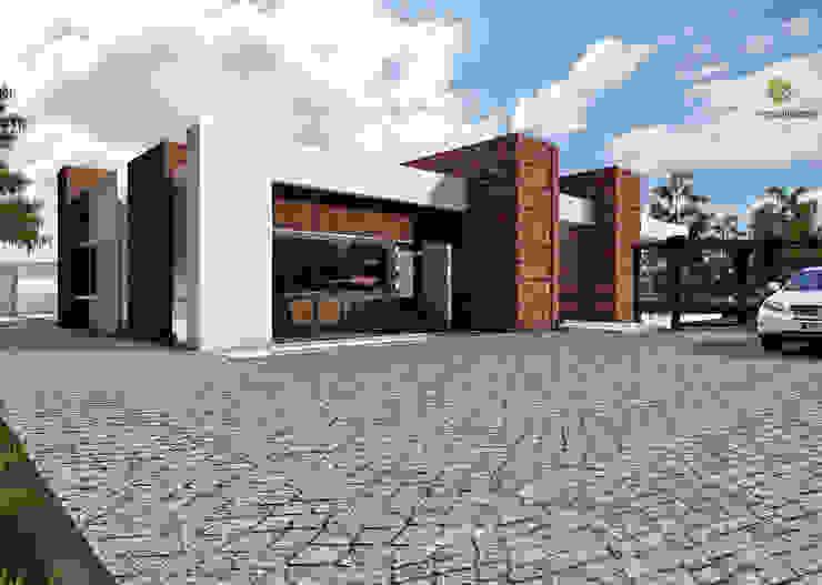 Diseño - visualización arquitectónica - fachada: Casas de estilo  por 3h arquitectos