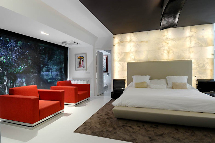 master bedroom: modern  by ALBA ARCHITECTS,Modern