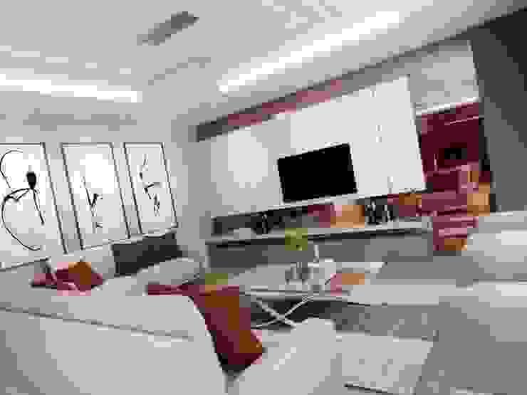 Villa Mira Modern Oturma Odası VERO CONCEPT MİMARLIK Modern