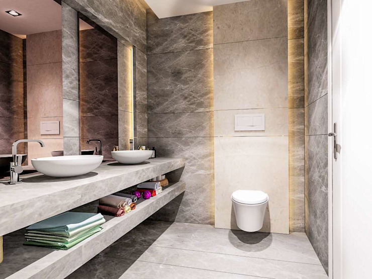 Ванная комната в стиле модерн от VERO CONCEPT MİMARLIK Модерн