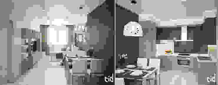 Center of interior design Cocinas de estilo ecléctico