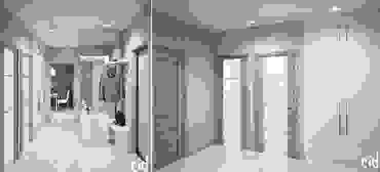 Center of interior design Pasillos, vestíbulos y escaleras de estilo ecléctico