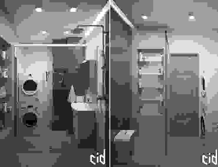 Center of interior design Baños de estilo ecléctico