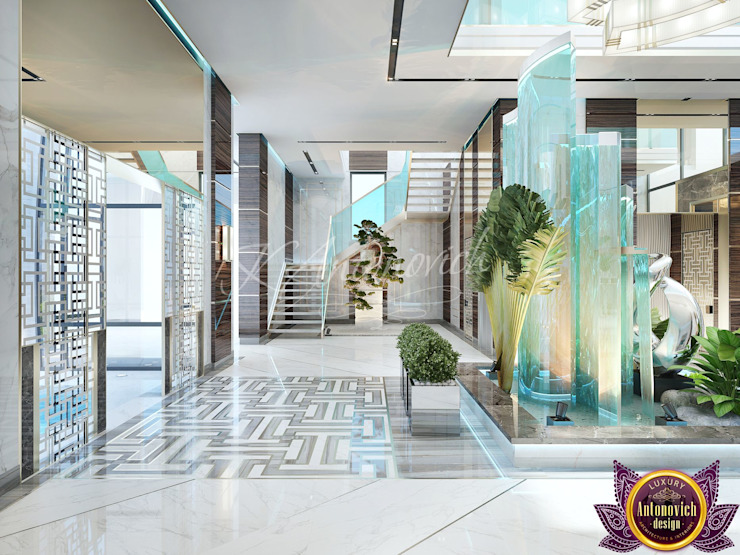  New look at luxury and comfort of Katrina Antonovich Modern Corridor, Hallway and Staircase by Luxury Antonovich Design Modern