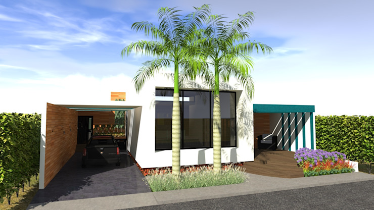 Vivienda Unifamiliar Casas modernas de N.A. ARQUITECTURA Moderno Concreto