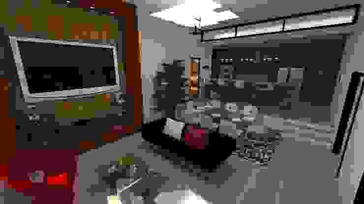 Vivienda Unifamiliar Salas de estilo moderno de N.A. ARQUITECTURA Moderno