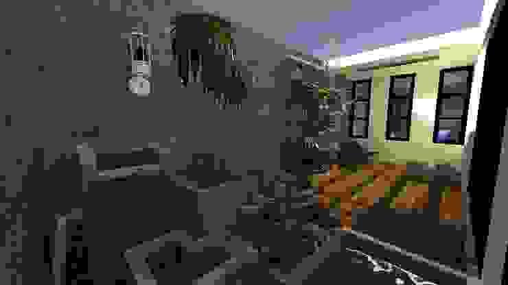 Vivienda Unifamiliar Jardines de estilo moderno de N.A. ARQUITECTURA Moderno