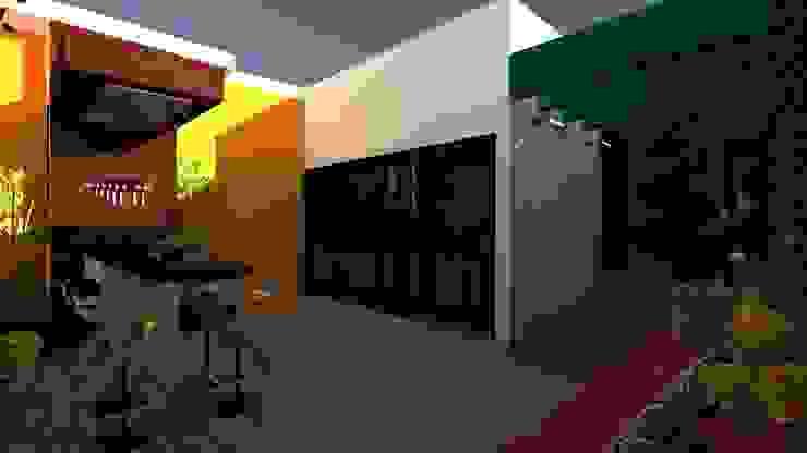 Vivienda Unifamiliar Balcones y terrazas de estilo moderno de N.A. ARQUITECTURA Moderno