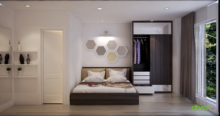 Thiết kế thi công nội thất căn hộ chung cư 125 phố Hoàng Ngân, Hà Nội Công ty TNHH Thiết kế và Ứng dụng QBEST BedroomBeds & headboards