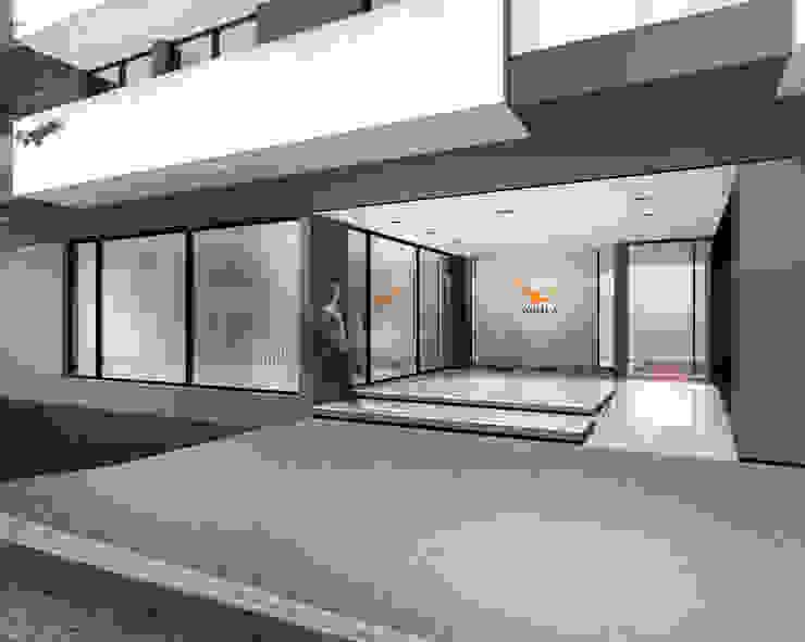 EDIFICIO AGUILA III Proa Arquitectura Dormitorios modernos: Ideas, imágenes y decoración Ladrillos Blanco