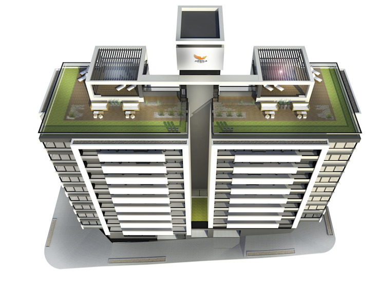 EDIFICIO AGUILA III Proa Arquitectura Balcones y terrazas modernos: Ideas, imágenes y decoración