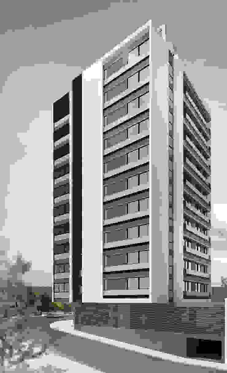 EDIFICIO AGUILA IV Livings modernos: Ideas, imágenes y decoración de Proa Arquitectura Moderno