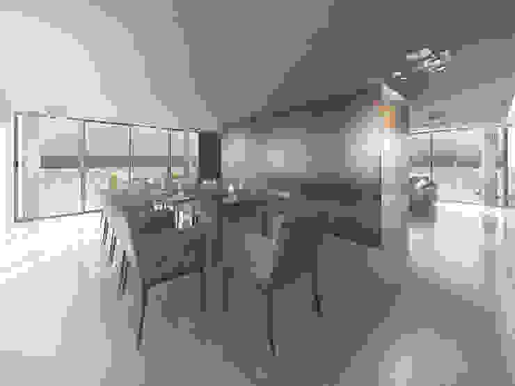 EDIFICIO AGUILA IV Comedores modernos de Proa Arquitectura Moderno