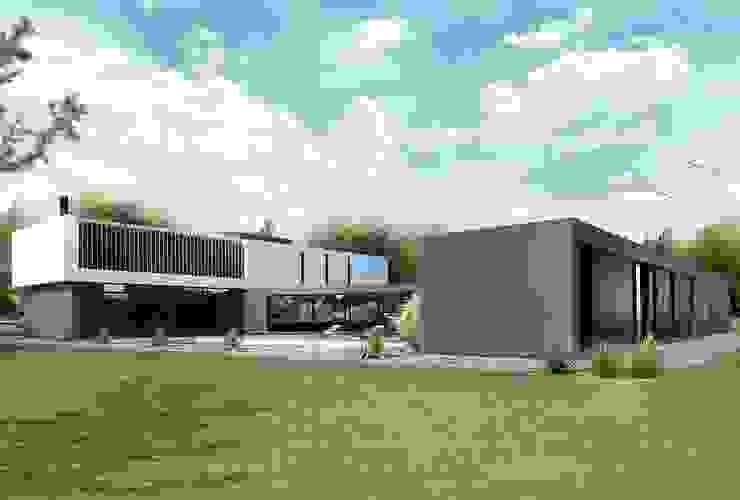 CASA PATRICIOS Proa Arquitectura Jardines modernos: Ideas, imágenes y decoración Concreto reforzado Gris