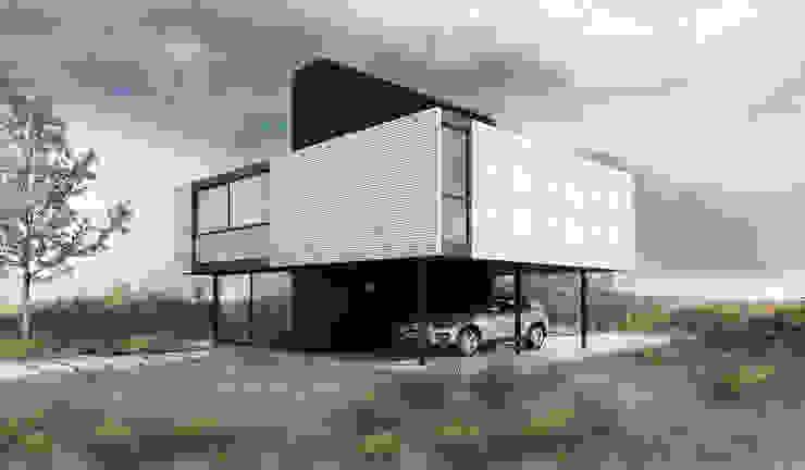 Proa Arquitectura Dormitorios de estilo minimalista Metal Blanco