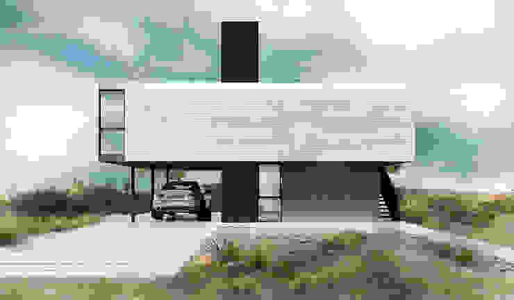 Proa Arquitectura Giardino minimalista Metallo Bianco
