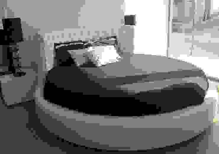 cama redonda Estofosvc QuartoCamas e cabeceiras Sintético Branco