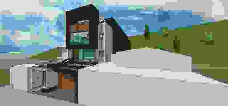 Fachada principal. Vista desde la calle Casas de estilo minimalista de MARATEA estudio Minimalista
