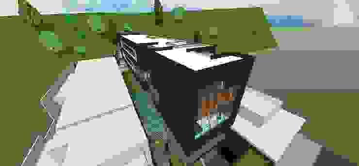Vista aérea Casas de estilo minimalista de MARATEA estudio Minimalista