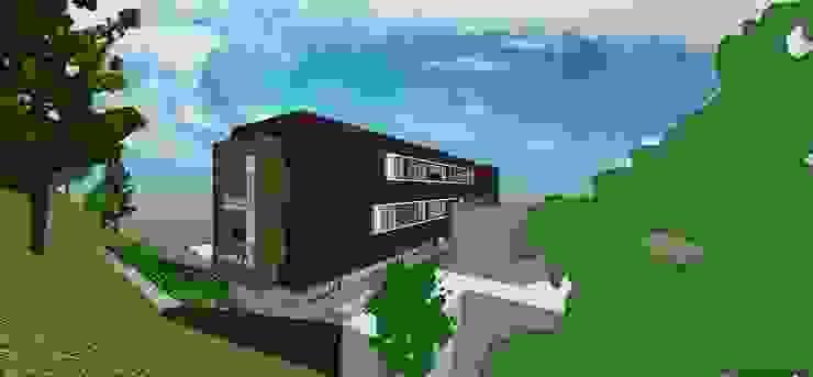 Vista posterior Casas de estilo minimalista de MARATEA estudio Minimalista