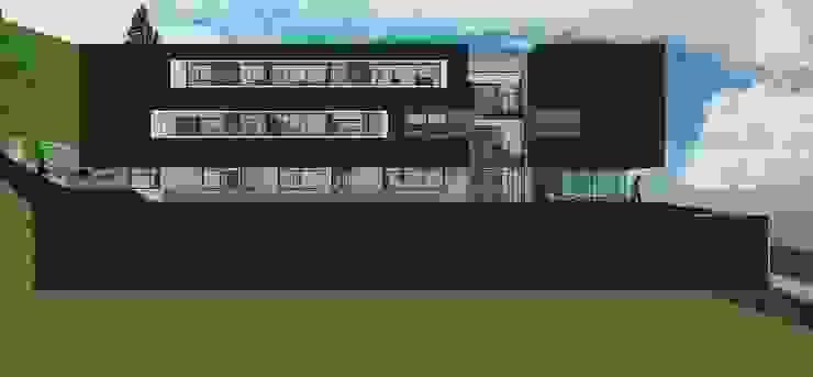 Fachada lateral Casas de estilo minimalista de MARATEA estudio Minimalista