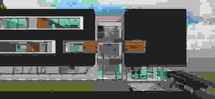 Detalle del nucleo de circulación vertical. Casas de estilo minimalista de MARATEA estudio Minimalista