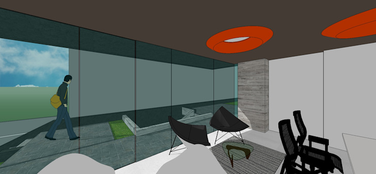 Oficina Oficinas de estilo minimalista de MARATEA estudio Minimalista