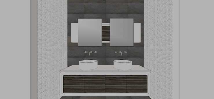 Apto. N°1. baño compartido Baños de estilo minimalista de MARATEA estudio Minimalista