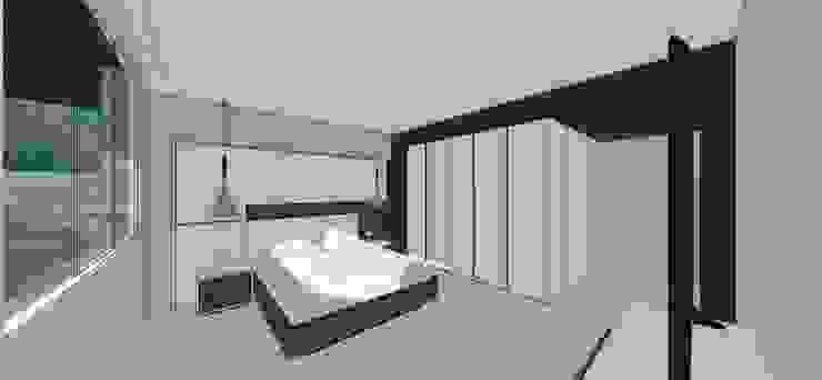 Apto. N°1. Habitación principal Cuartos de estilo minimalista de MARATEA estudio Minimalista