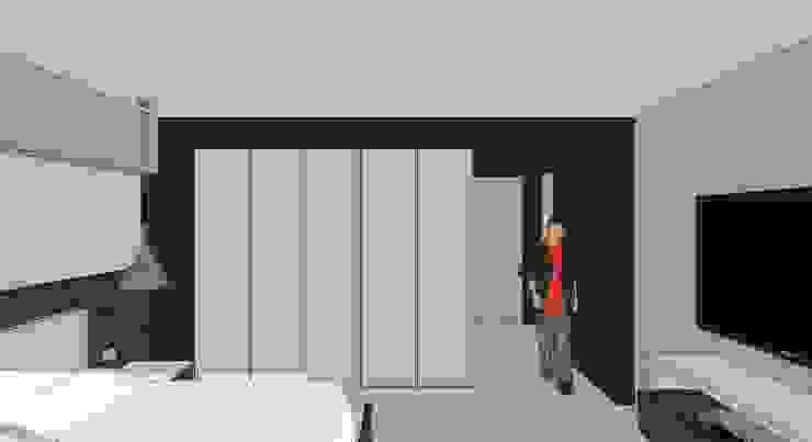 Apto. N°1. Habitación principal cond etalle de closet Cuartos de estilo minimalista de MARATEA estudio Minimalista