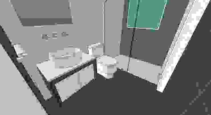 Apto. N°1. baño de la habitación principal Baños de estilo minimalista de MARATEA estudio Minimalista