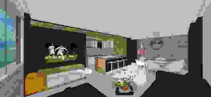 Apto. N°2. Sala-Cocina-Comedor Salas de estilo minimalista de MARATEA estudio Minimalista