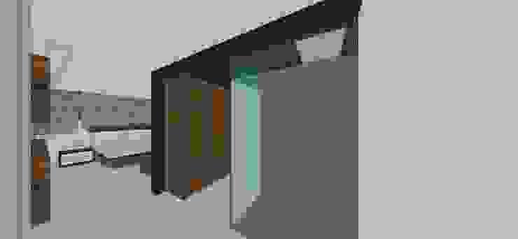 Apto. N°2. Vestier habitación principal Closets de estilo minimalista de MARATEA estudio Minimalista