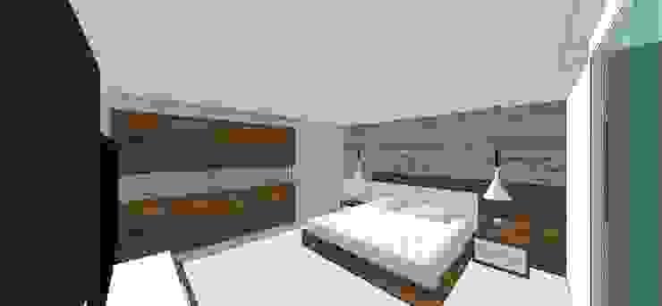 Apto. N°2. Habitación principal Cuartos de estilo minimalista de MARATEA estudio Minimalista