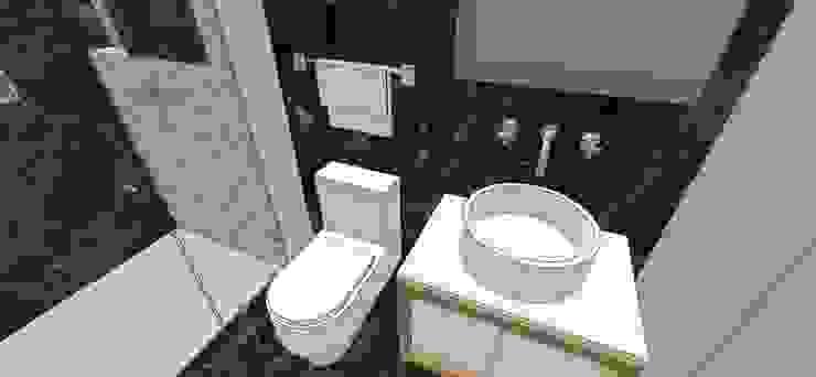 Apto. N°2. Baño habitación principal Baños de estilo minimalista de MARATEA estudio Minimalista