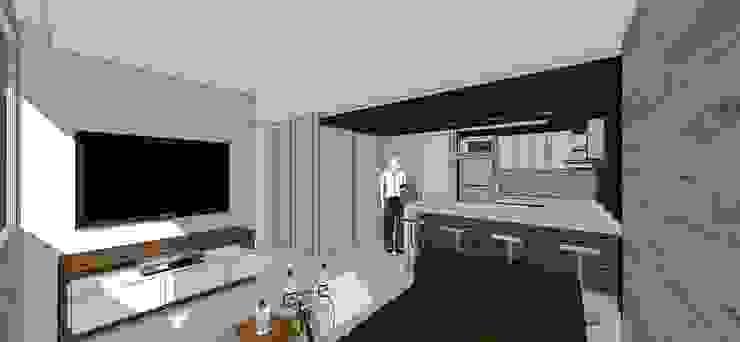 Apto. N°3. Sala -cocina-comedor Salas de estilo minimalista de MARATEA estudio Minimalista