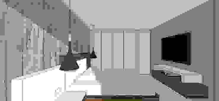 Apto. N°3. Habitación Cuartos de estilo minimalista de MARATEA estudio Minimalista