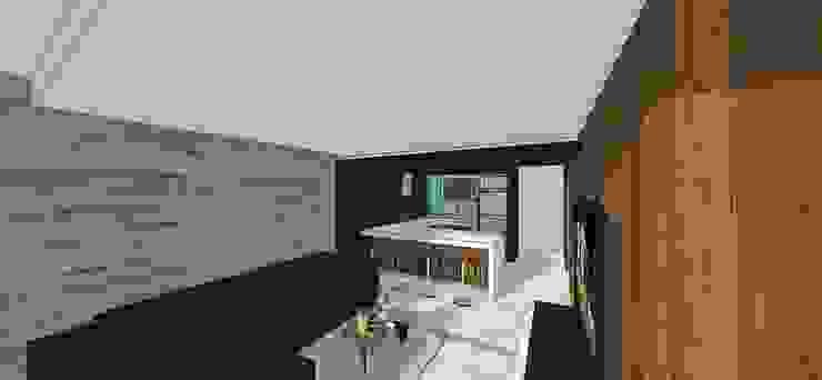 Apto. N°4. Sala-cocina-comedor Cocinas de estilo minimalista de MARATEA estudio Minimalista