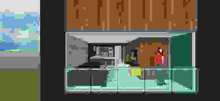 Apto. N°4. Vista externa. Salas de estilo minimalista de MARATEA estudio Minimalista