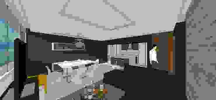 Apto. N°5. Sala-cocina-comedor Salas de estilo minimalista de MARATEA estudio Minimalista