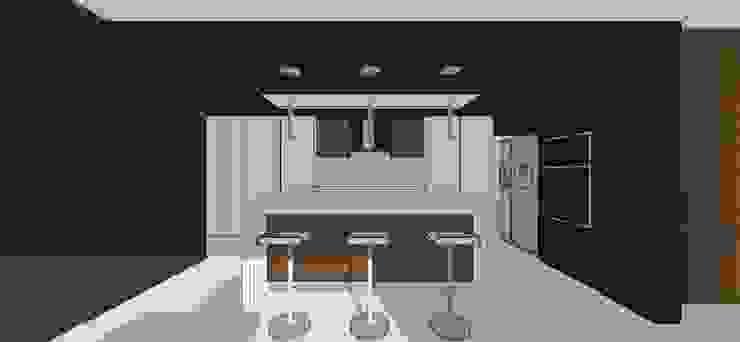 Apto. N°5. Cocina Cocinas de estilo minimalista de MARATEA estudio Minimalista